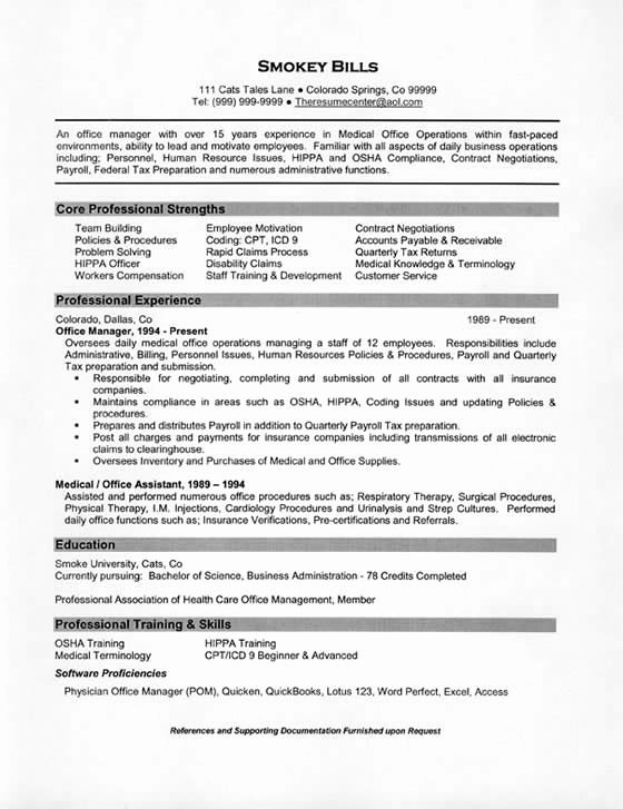 Medical Fice Manager Resume Example
