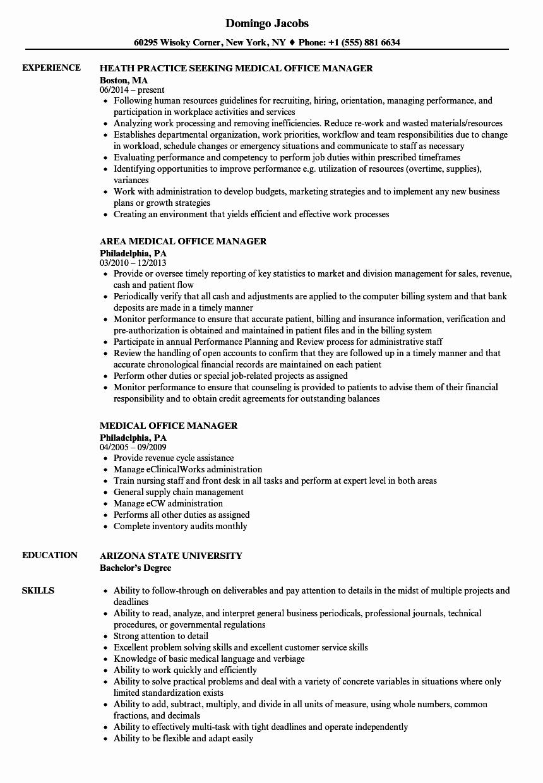 Medical Fice Manager Resume Samples