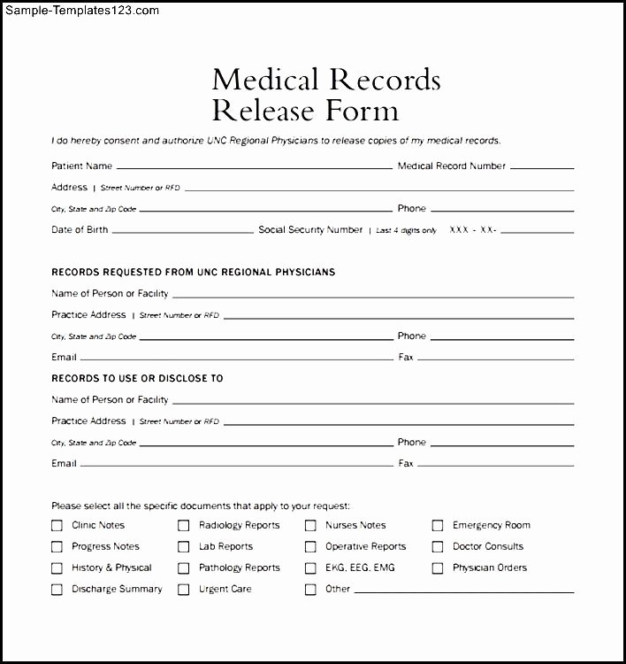 Medical form Example – Templates Free Printable