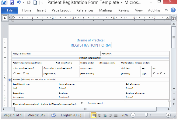 Medical form Templates Microsoft Word – Templates Free