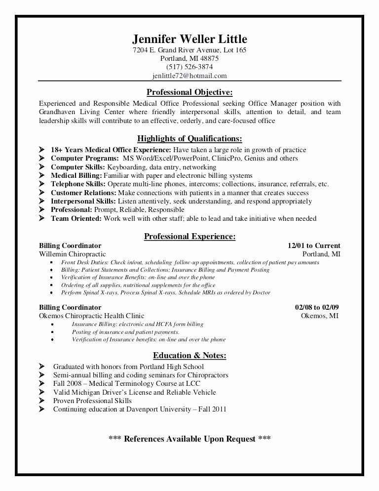 Medical Front Desk Receptionist Resume Hostgarcia