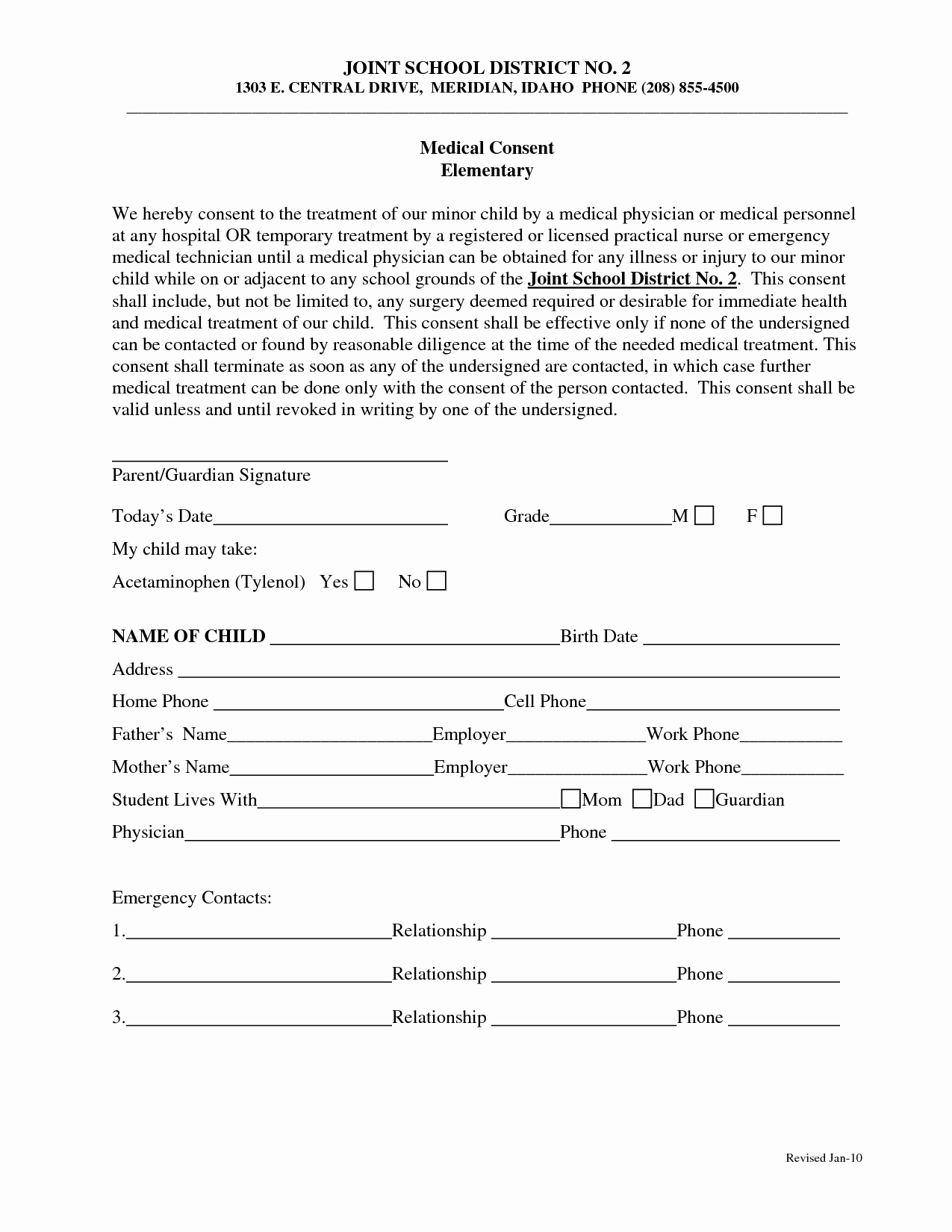 Medical Informed Consent form – Templates Free Printable