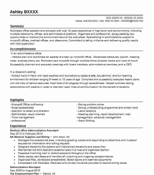 Medical Office assistant Resume – Mkmafo
