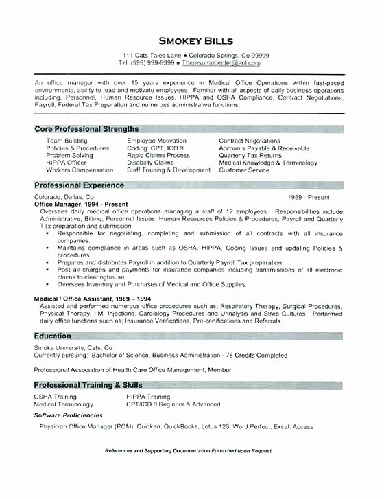 Medical Operation Manager Resume – thesocialsubmit
