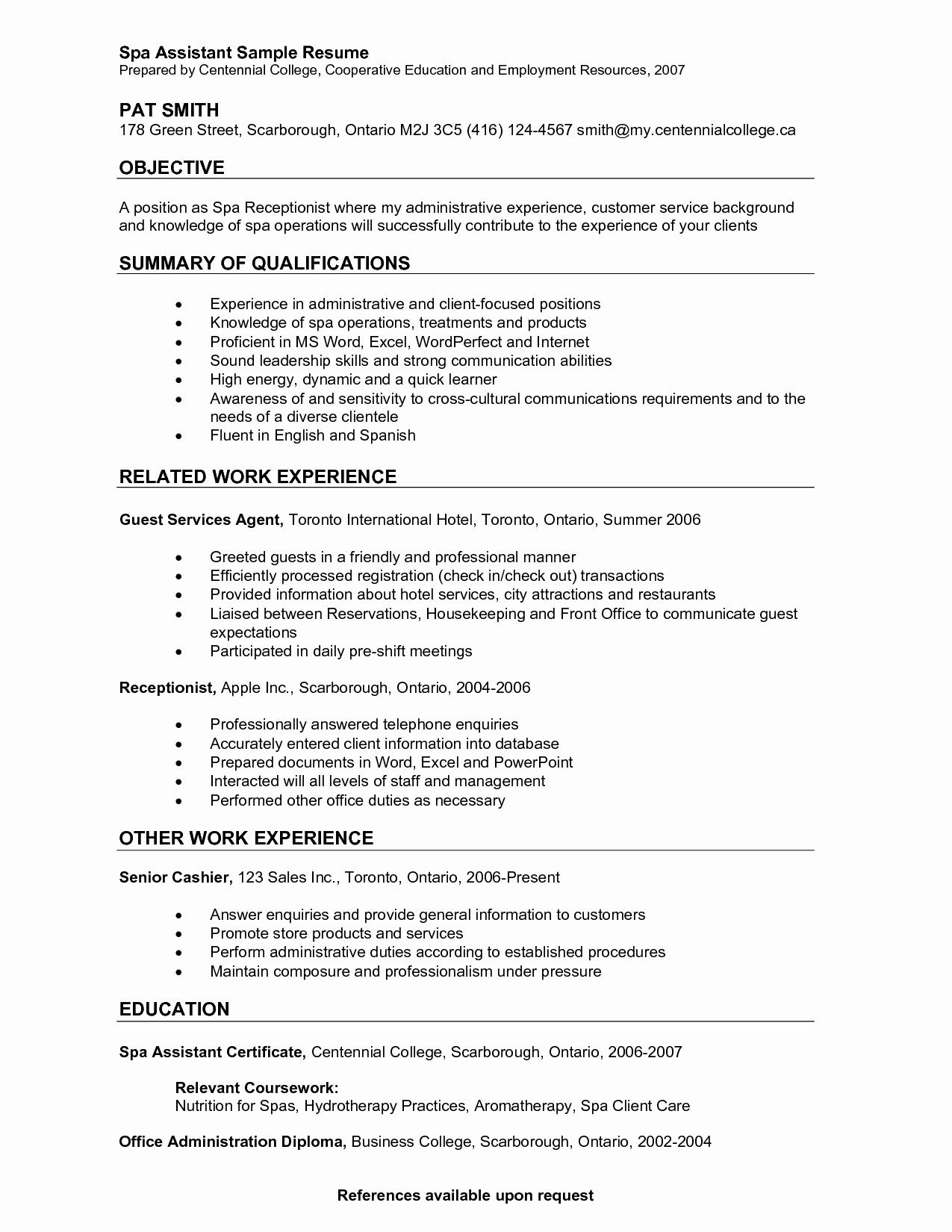 Medical Receptionist Resume Objective Samples