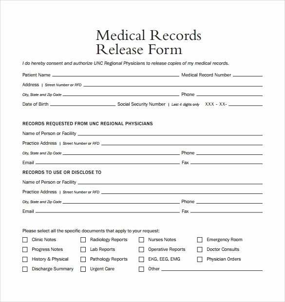 Medical Records Request form Template Invitation Template