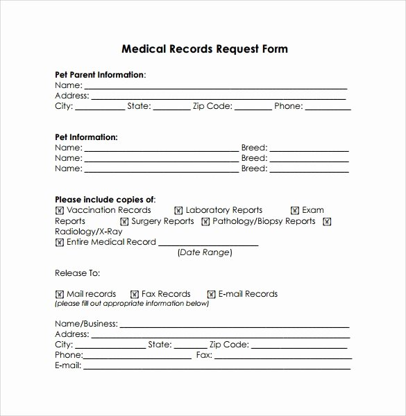 Medical Records Request Template Invitation Template