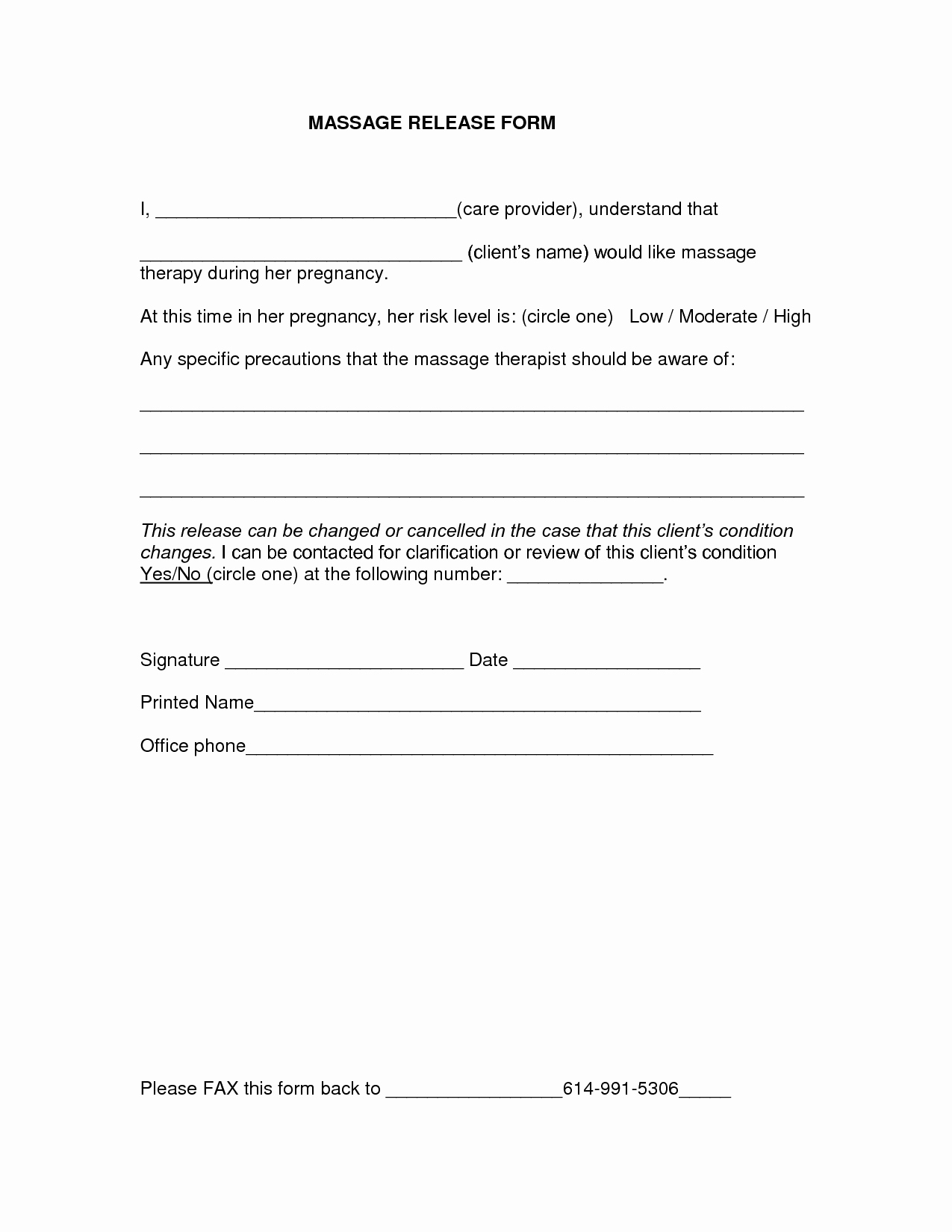 Medical Release form – Templates Free Printable