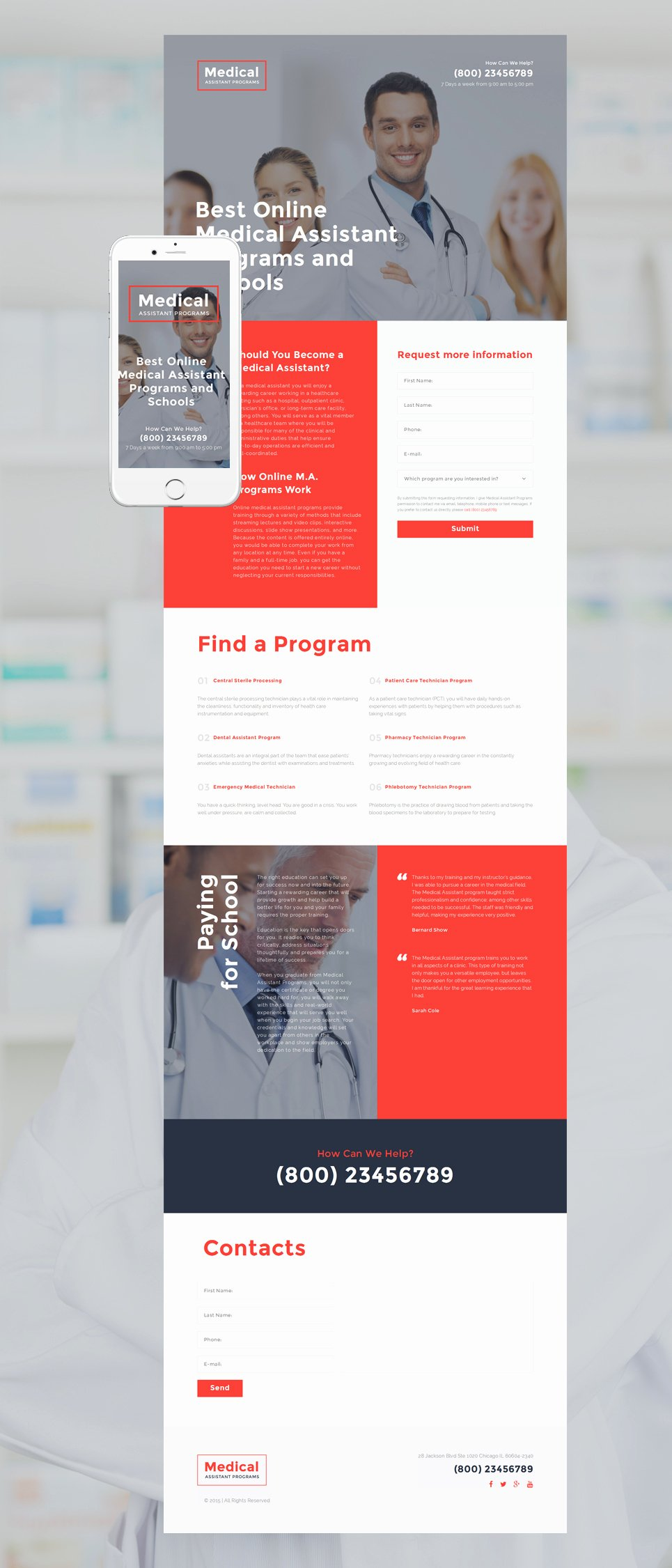 Medical Responsive Landing Page Template