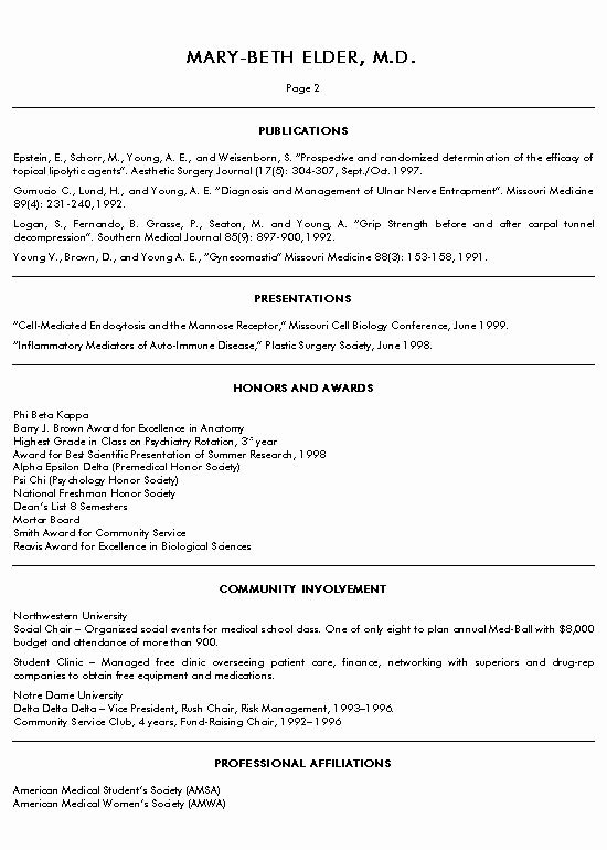 Medical School Student Resume Best Resume Collection