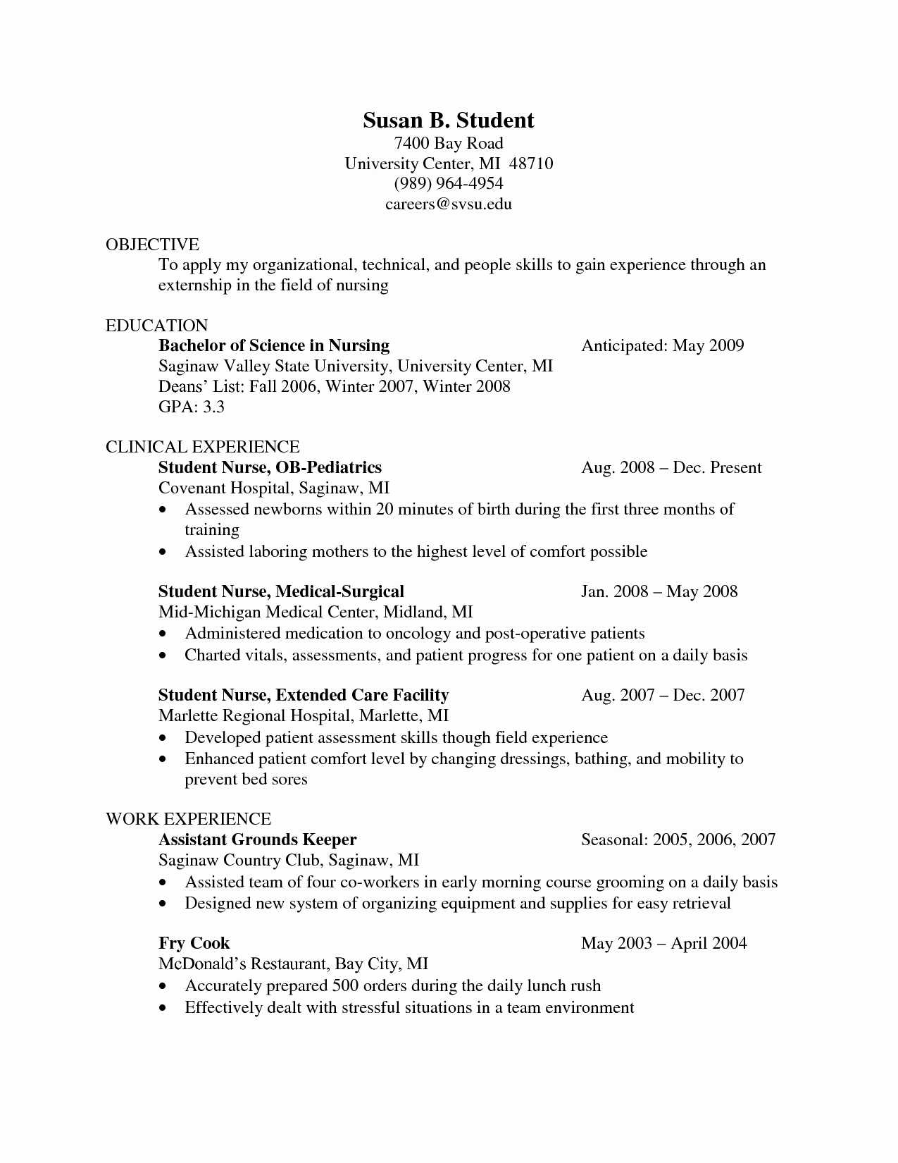 Medical Student Resume for Clinical Rotations Sidemcicek