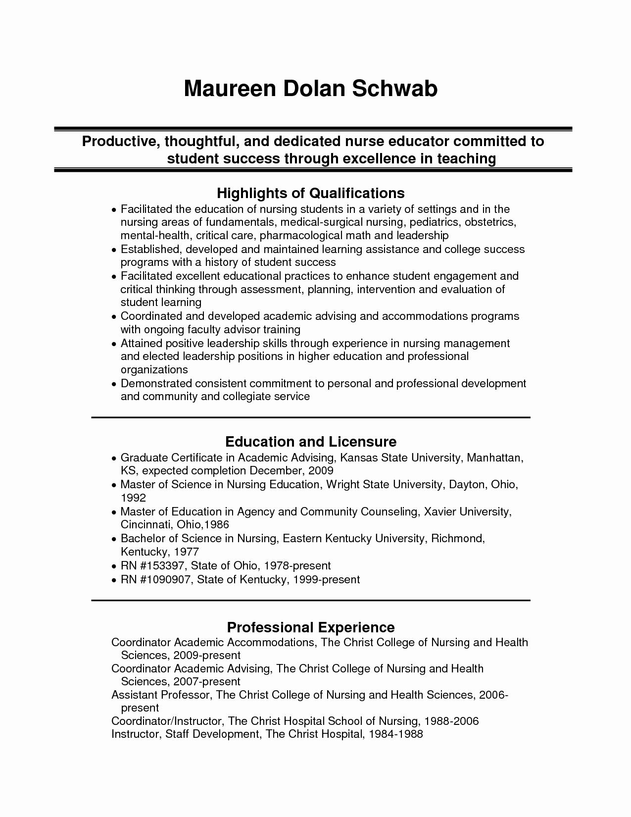 Medical Surgical Nursing Resume Sample Resume Ideas
