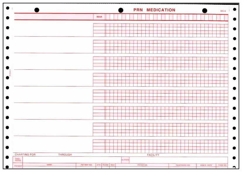 Medication Administration Record form to Pin