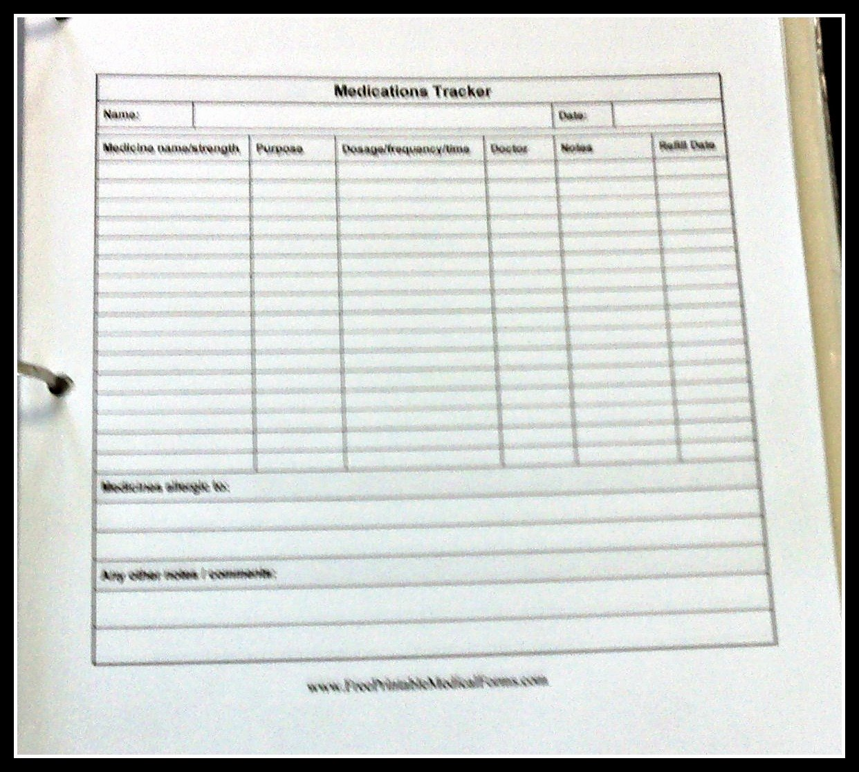 Medication Administration Record Template Excel