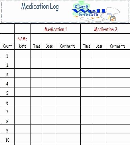 Medication Log for the Home Pinterest