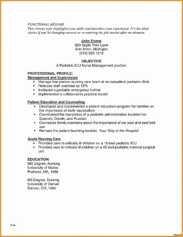 Medium Size Resume Example Registered Nurse Sample