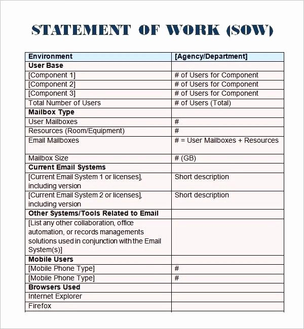 Medium Size Simple Statement Work Free Templates