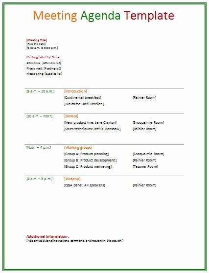 Meeting Agenda Template Agendas Pinterest