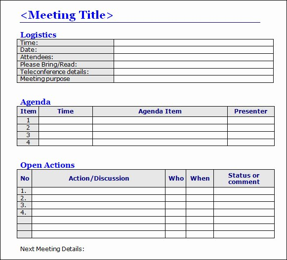 Meeting Minutes format Word Nisartmacka