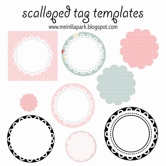 Meinlilapark Free Printable Scalloped Tag Templates