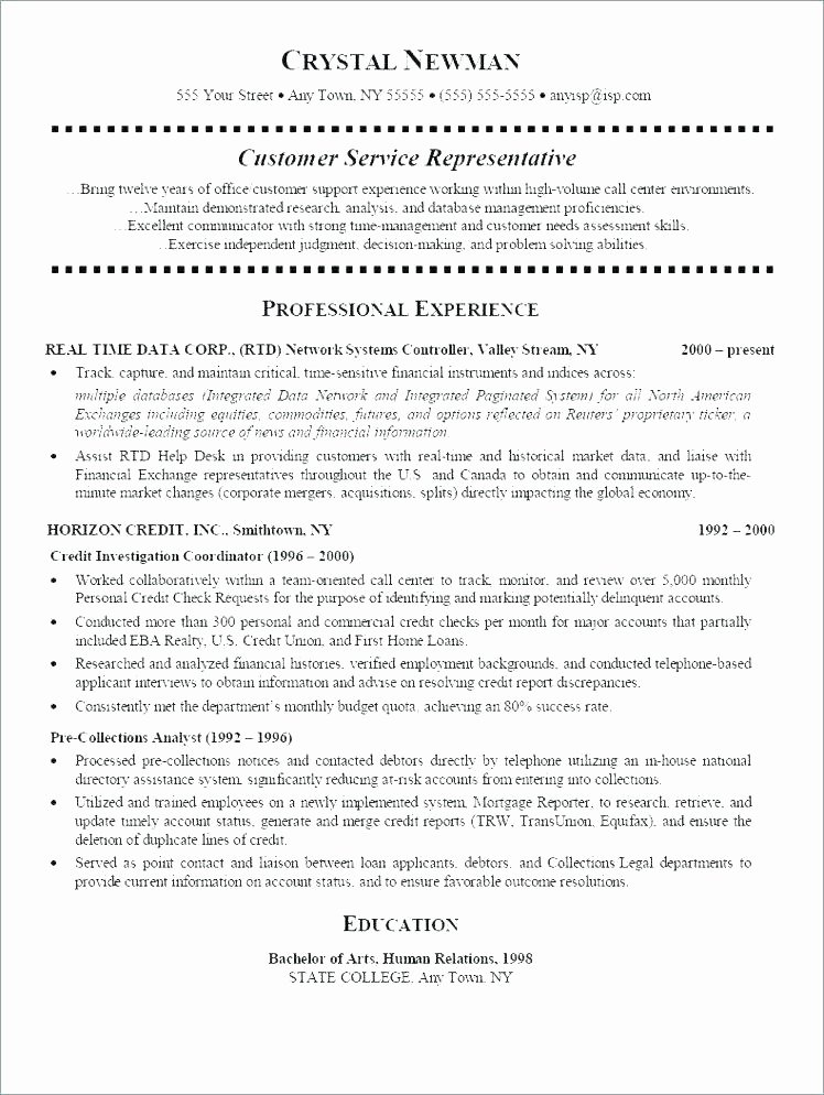 Member Services Representative Resume Customer Services
