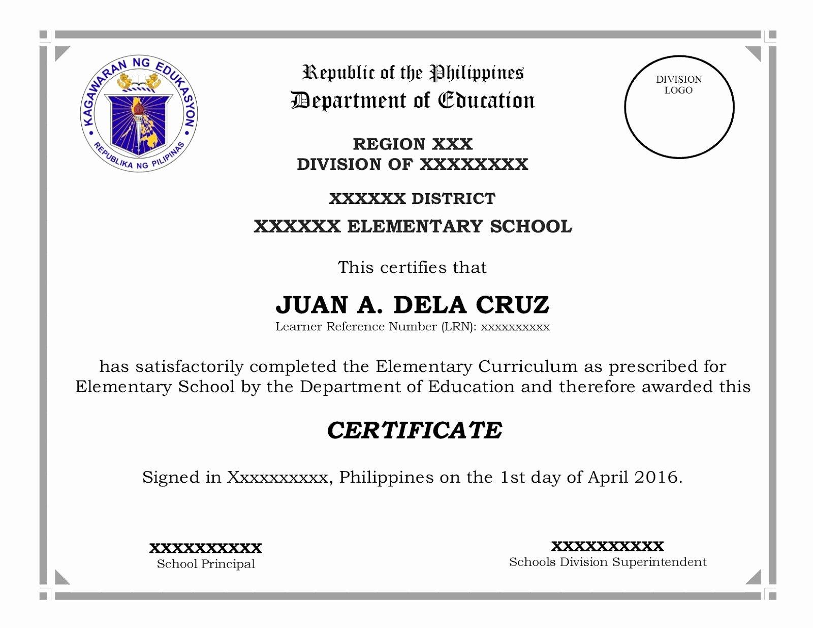 Membership Certificate form
