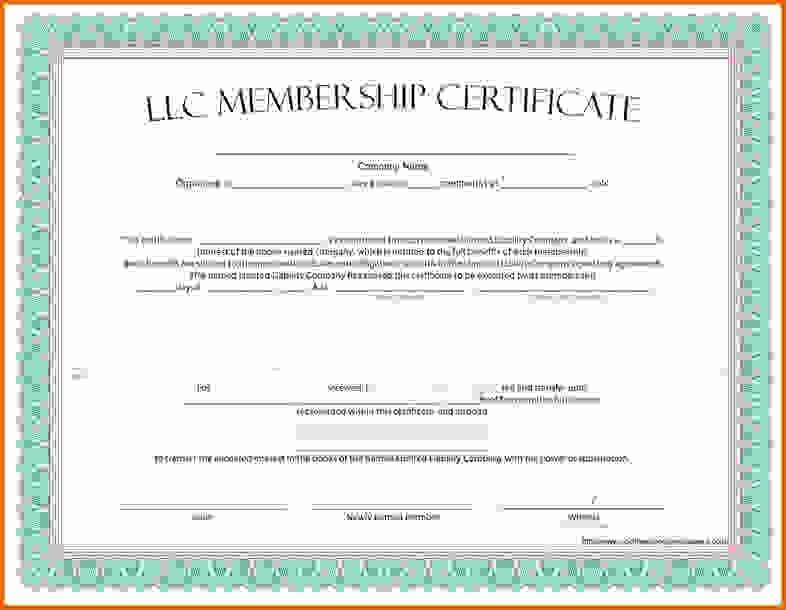 Membership Certificate Templatereference Letters Words