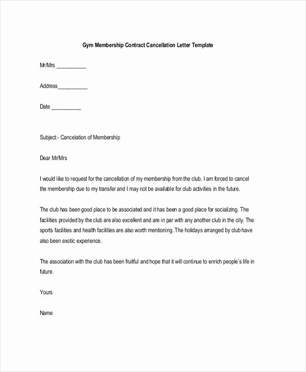 Membership Resignation Letters Template 12 Free Word