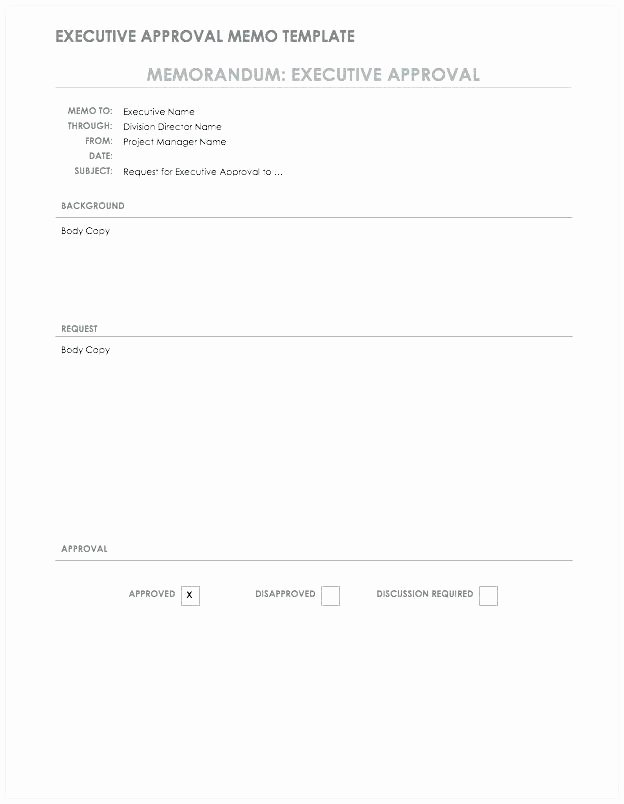Memo format Template Executive Approval Google Doc Us Army