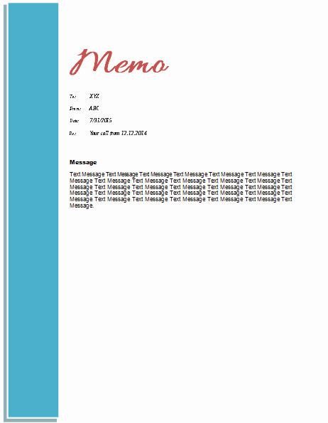 Memo Template Templates for Microsoft Word