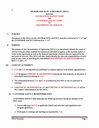 Memorandum Of Understanding Download Edit Fill & Print