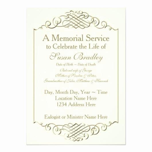 Memorial Announcement Template Memorial Service