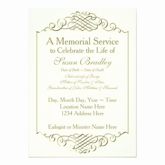 Memorial Announcement Template Memorial Service