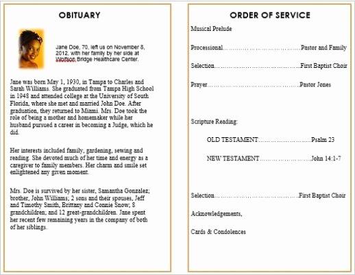 Memorial Bulletins for Funerals