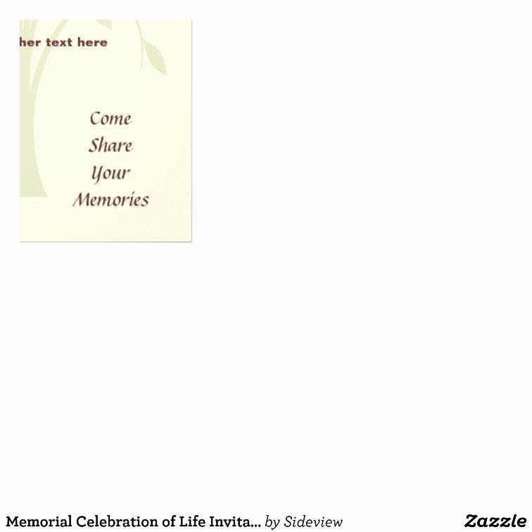 Memorial Celebration Of Life Invitation Flyer