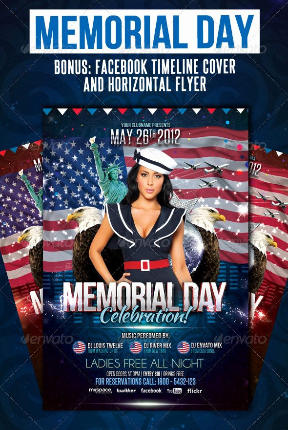 Memorial Day Flyers Collection