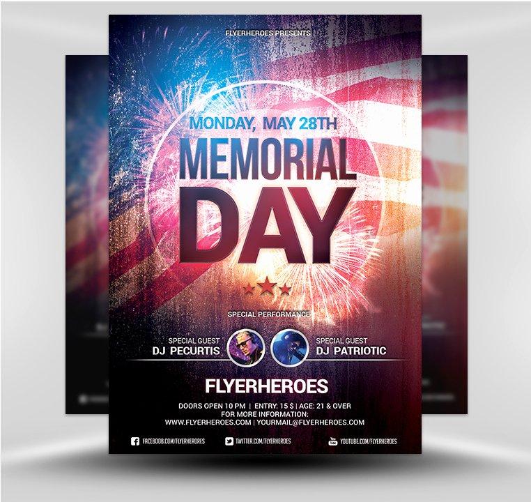 Memorial Day V3 Flyerheroes