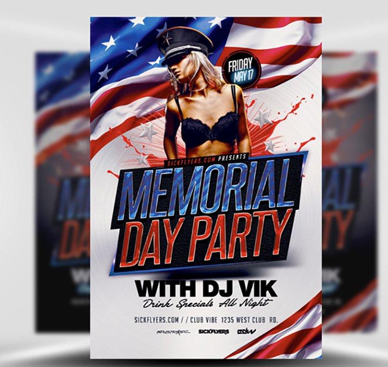 Memorial Day Weekend Flyer Template Flyerheroes