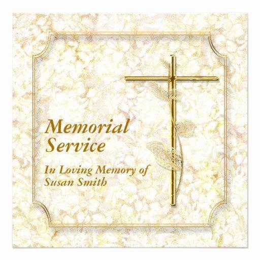 Memorial event Invitation