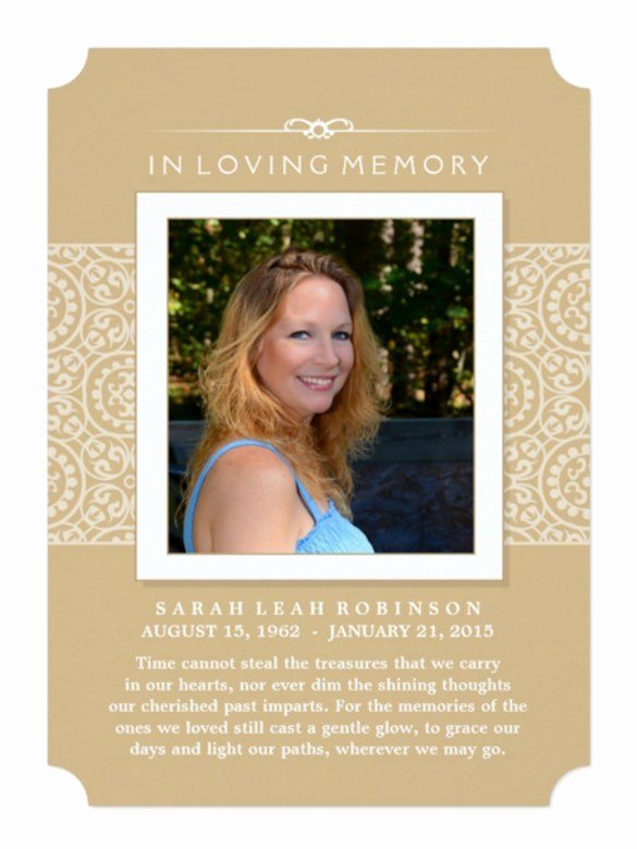 Memorial Invitation Cards