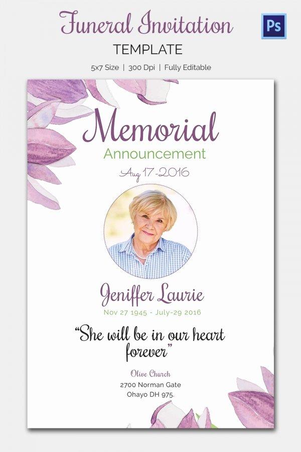 Memorial Invitation Templates Free Templates Resume