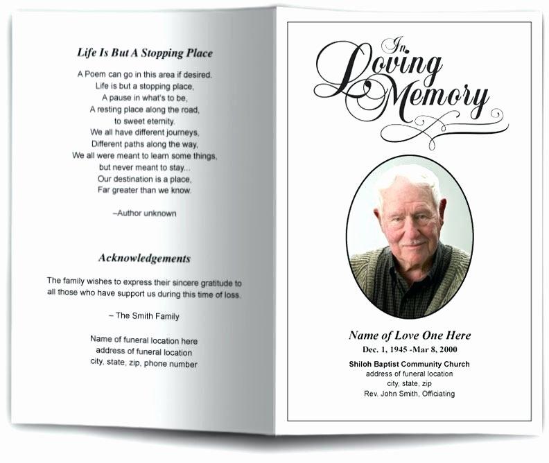 Memorial Program Template Word Free – Helenamontanafo