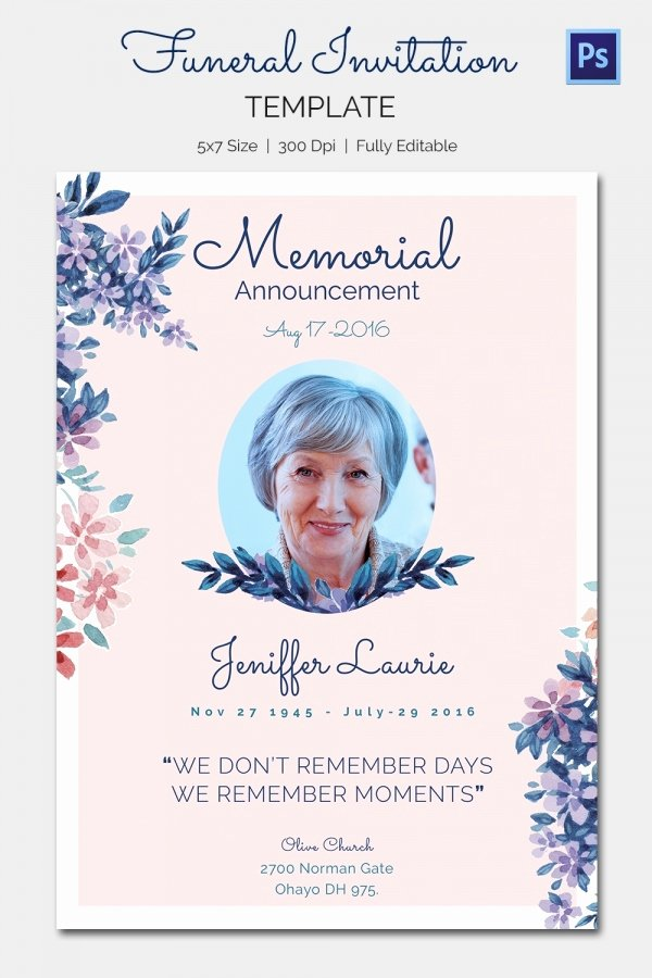 Memorial Service Flyer Template Free Templates Resume