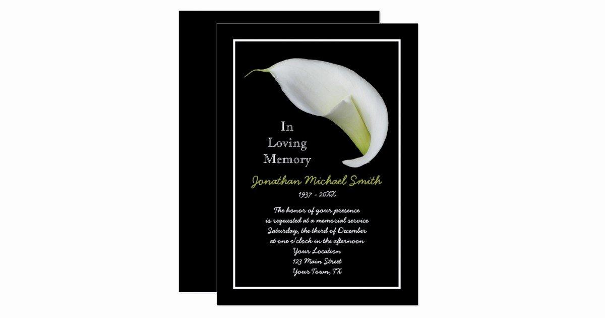 Memorial Service Invitation Announcement Template