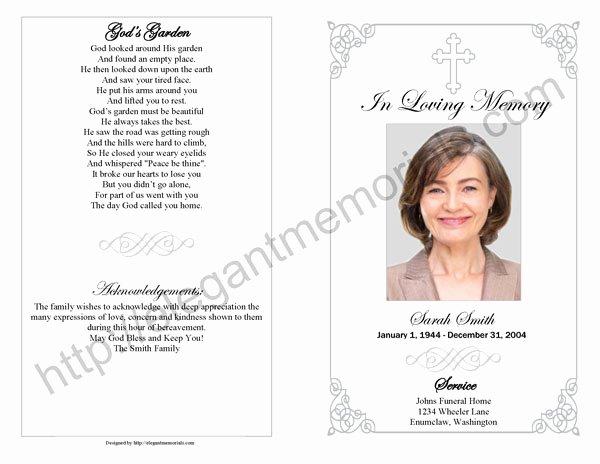 sample memorial service program