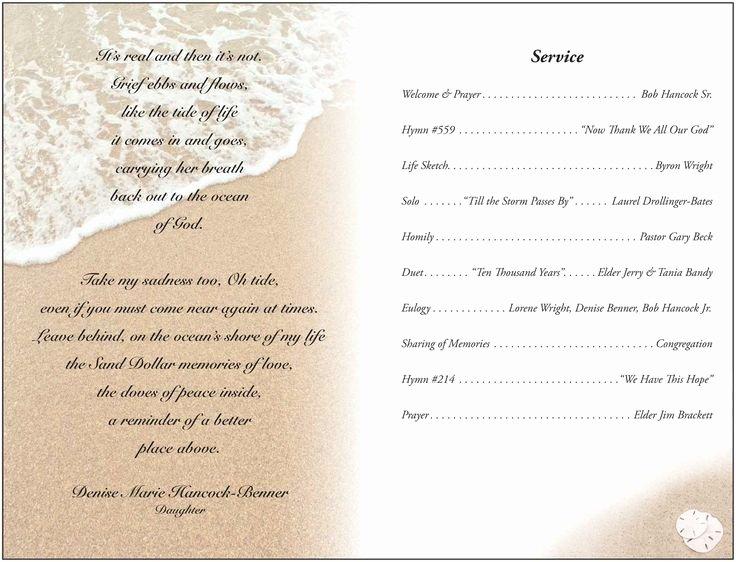 Memorial Service Programs Sample