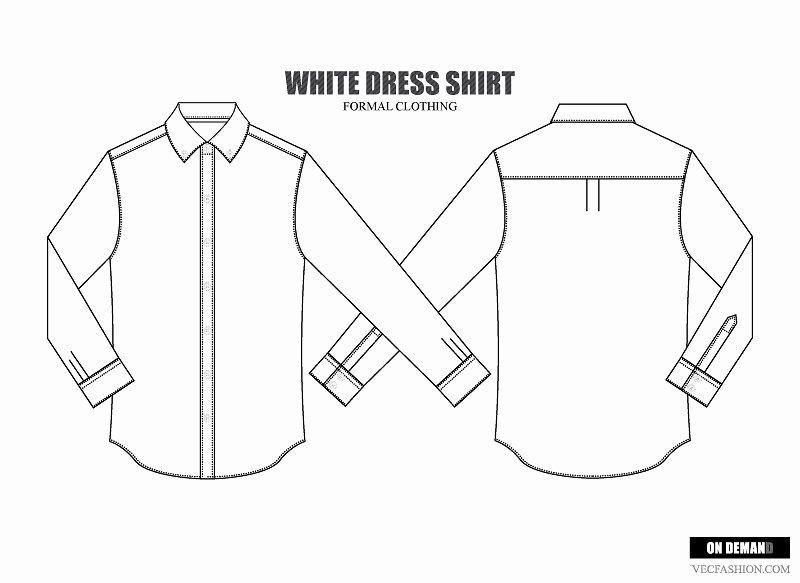 Men Dress Shirt Vector Template Illustrations Creative