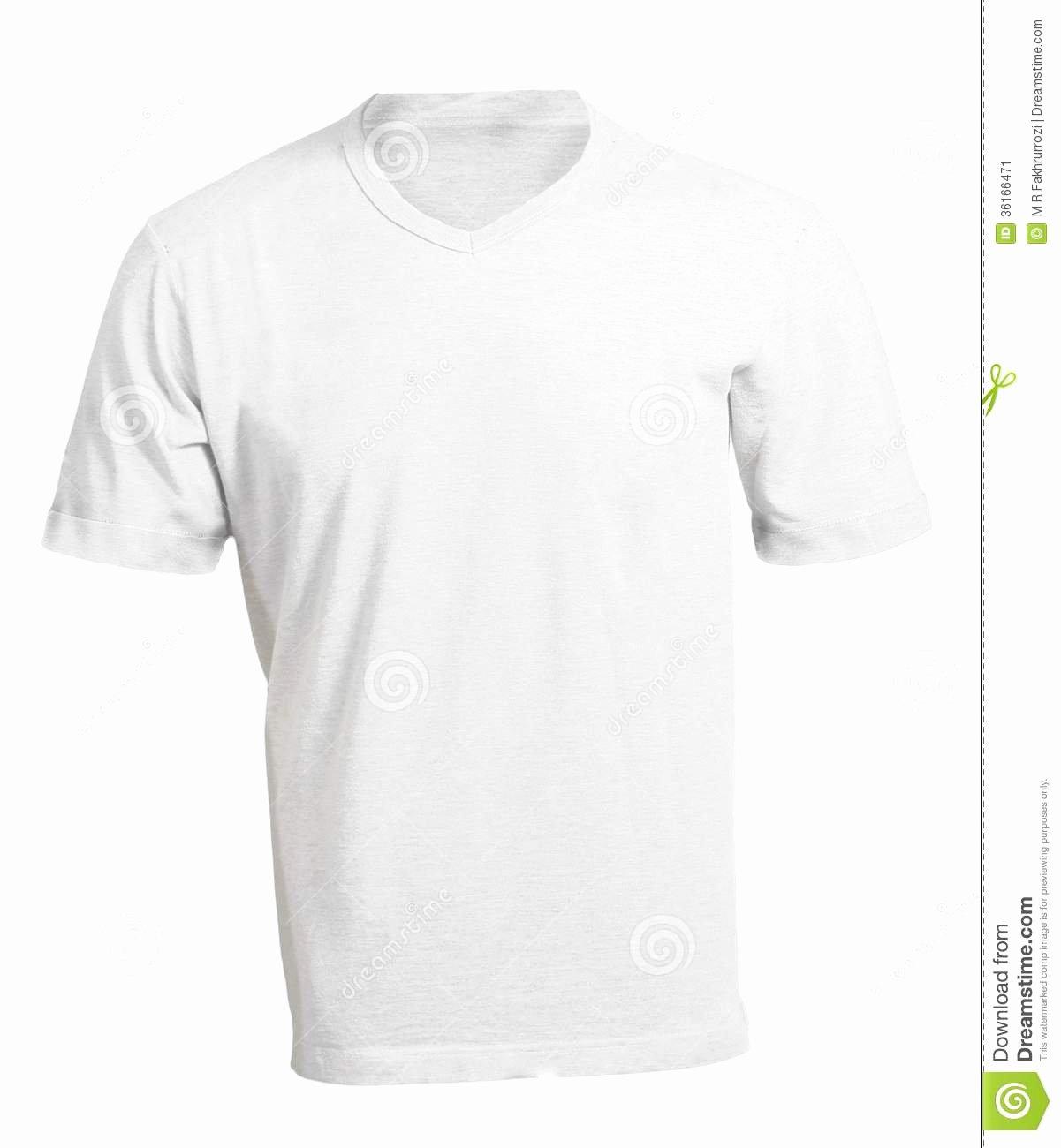 Men S Blank White V Neck Shirt Template Stock Image