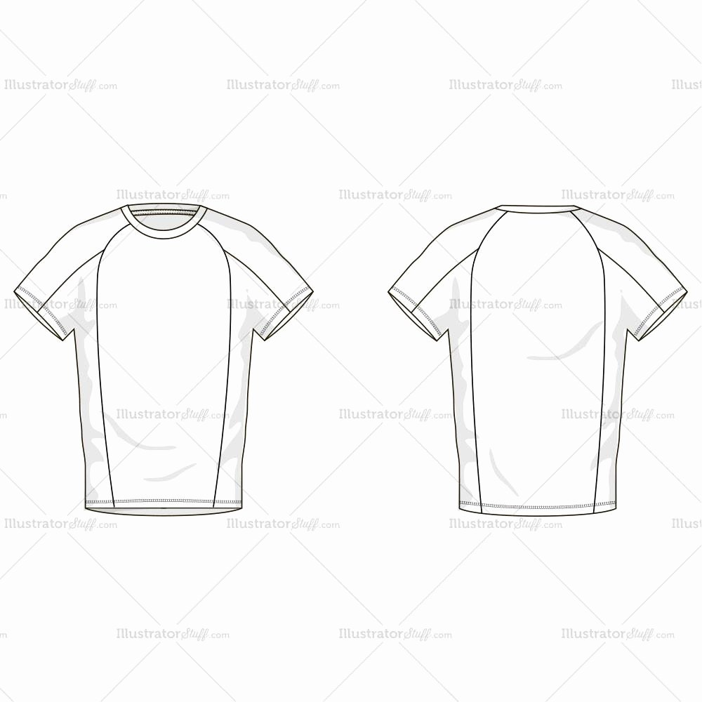 Men S T Shirt Fashion Flat Template – Illustrator Stuff