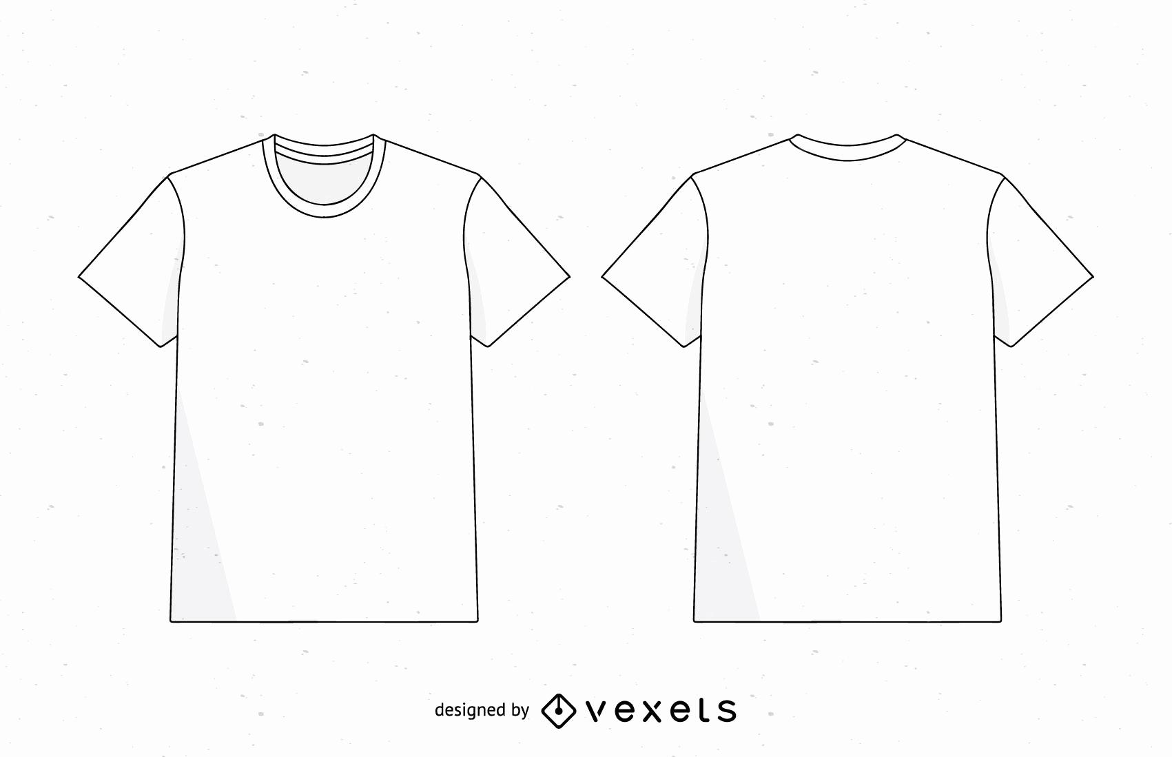 Men T Shirt Template Vector Vector